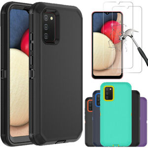 For Samsung Galaxy A02S Case Heavy Duty Shockproof CoverGlass Screen Protector $9.99
