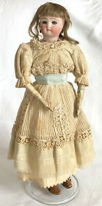 Antique 19th c. French quot;Teenquot; Fashion Doll with Kid Body amp; Blue Glass Eyes $2800.00