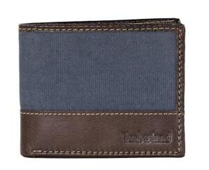 Timberland Men#x27;s Baseline Leather Canvas Wallet with Attached Flip Pocket $19.95