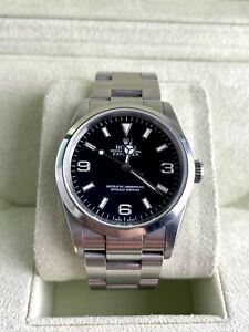 Rolex Explorer 114270 Stainless Steel Oyster 36mm Black Dial Box and Papers 2007