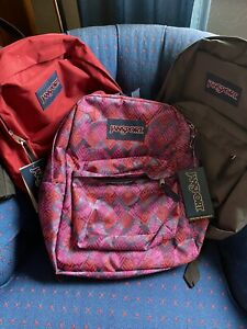 NWT RED GRAY MULTI COLORED JANSPORT BACKPACKS