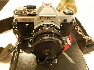 Canon AE 1 35mm SLR Camera Canon Lens FD 50mm battery included
