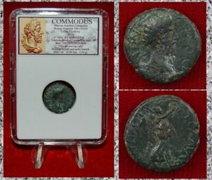 Ancient Roman Empire Coin COMMODUS Nike Lydia Thyateira Mint $59.50