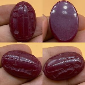 Wonderful ancient Roman king and Queen intaglio Ruby Stone cabochon $60.00