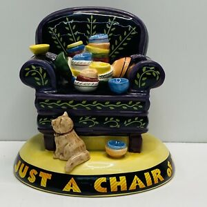 Mary Engelbreit Life is Just a Chair of Bowlies 1994 Vintage Bank Ceramic