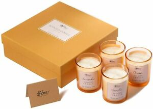 4x 3.5oz Aromatherapy Scented Candle Set Fragrance Natural Soy Wax Candles