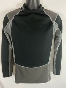 Under Armour Cold Gear Compression Shirt Performance Mock Neck L S XL Black Gray $26.00