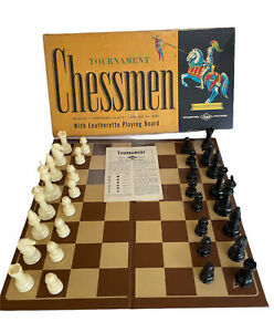 """Vintage Tournament Chessmen Game 1945 Lowe Weighted King Size 3 1 8"""""""