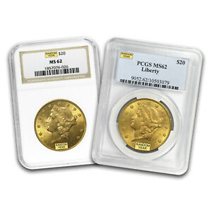 SPECIAL PRICE $20 Liberty Gold Double Eagle MS 62 PCGS NGC Random $2002.26