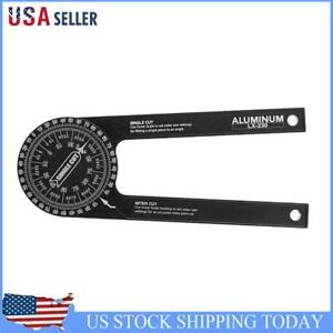 Miter Saw Protractor Aluminum Alloy Angle Finder Level Meter Goniometer $21.59