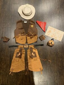 Kids Cowboy Sheriff Deputy Costume and accessories Halloween Size 4 6