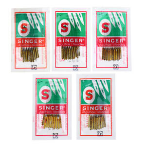 50 x MIX SIZE SINGER NEEDLES SEWING DOMESTIC 2020 SIZE 09 11 14 16 18 HAX1 705H $9.50