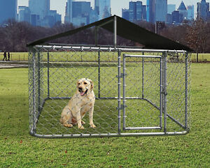 10x10ft Large Outdoor Heavy Duty Dog Kennel Steel Pet Dog Cage Fence w Cover $139.69