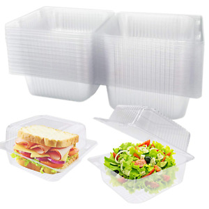 Clear Plastic Square Hinged Food Containers Clamshell Takeout Tray Disposable $18.99
