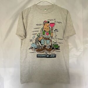 Anatomy Of A Dad Vintage T Shirt Cartoon Champ Tag Men's Size M Early 2000s Y2k $20.00