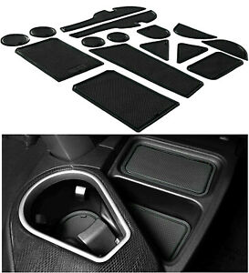 Liner Accessories For 13 18 Toyota RAV4 Cup Holder Console Insert Mat Black Trim $19.88