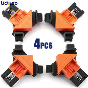 4 PACK 90 Degree Right Angle Clip Clamps Corner Holders Woodworking Hand Tool US $6.99