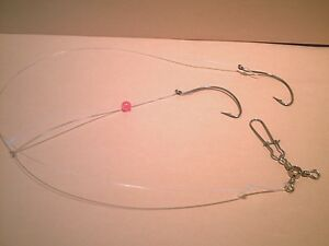 3 Saltwater Bottom Rigs Summer Flounder amp; Sea Trout Double Hook Hand Tied