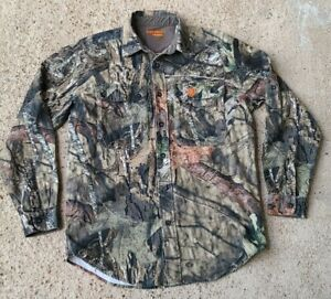 Mens Button Down Camo Game Winner Hunting Shirt Size Small Collared