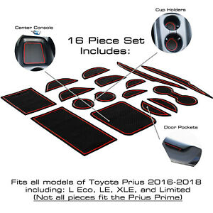 Cup Holder Insert Center Console Liner Trim Mats Accessories For Toyota Prius $10.00