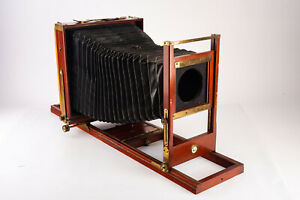 Antique Century View No 1 8x10#x27;#x27; Camera with Double Grooved Bed amp; 4x5 Back V16 $662.99