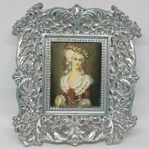 Made in Italy Fabric Portrait Mini Painting Plastic Frame