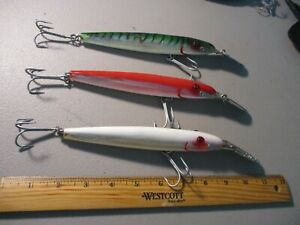 LOT OF 3 LARGE 9 INCH 113MR MIRROLURES FISHING LURES