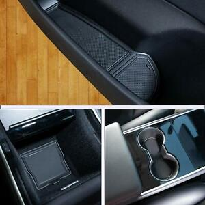 Door Cup and Center Console Liner mat For Tesla Model 3 Custom Fit Accessories $12.88