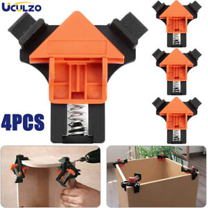 4Pcs Set 90 Degree Right Angle Clip Clamps Corner Holders Woodworking Hand Tools $6.99