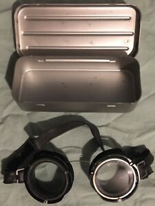 Vintage Military goggles with case Cold War Steampunk eyewear eye protection $29.95