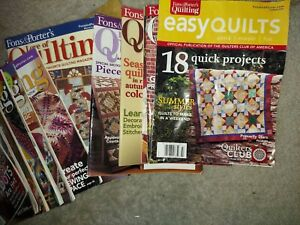Fons and Porter Love of Quilting Magazines 2007 2009 $8.00