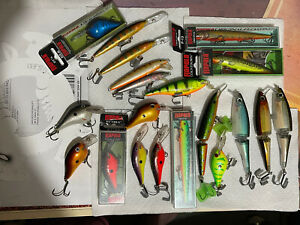 Lot of 20 rare Rapala lures. Shad Rap Dt Fat Thug