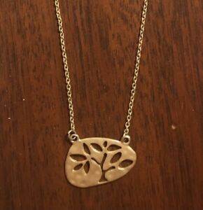 gold tree necklace $5.00