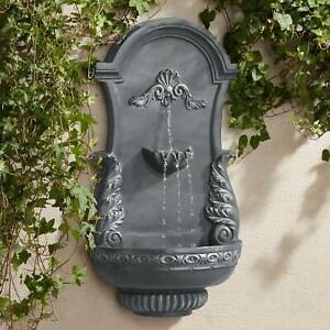Outdoor Wall Water Fountain 33quot; 2 Tiered Ornate for Yard Garden Patio Deck Home $179.99