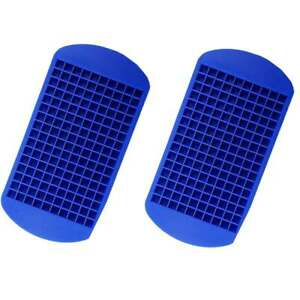 2x Ice Cube Maker Mold 160 Grids Mini Small Trays Silicone Bar Whiskey Cocktails