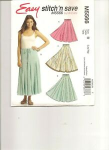 McCalls M5566 Circle Skirt Easy Sewing Pattern Misses Elastic Waist LRG XLG NEW $4.99
