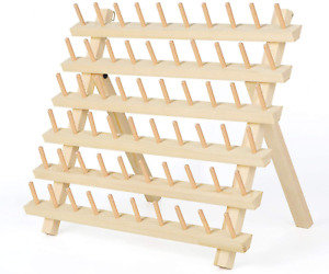 HAITRAL 60 Spool Thread Rack Wooden Thread Holder Sewing Organizer for Sewing $25.98