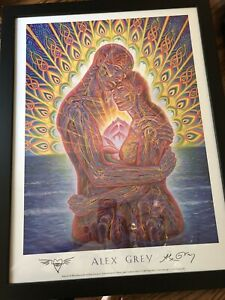Signed and Framed Alex Grey Ocean of Love Bliss poster In Good Condition $120.00