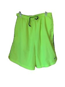 mens nike running shorts medium Preowned Excellent Condition Neon Yellow $15.00