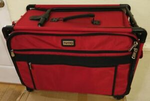 Tutto XL Sewing Machine Tote Case Item # 9224CMA Red Excellent Condition $149.99