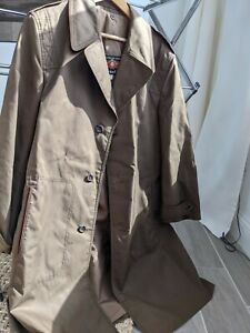 Mens Cortefiel Vintage Military Type Over Coat Trench Coat Size 42 $65.00