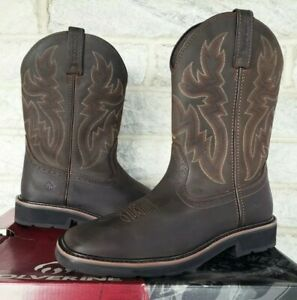 Wolverine Mens Rancher Wellington Work Boots Size 10.5 Brown W10704 Square Toe $81.88