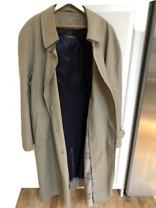 Brooks Brothers Full Length Trench Coat Button Front Wool Lined 46 Reg $59.99