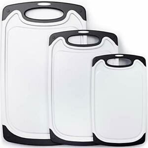 Cutting Board Set 3 Kitchen Chopping Boards Small to Large Non Porous