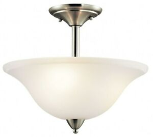3 light Semi Flush Mount with Transitional inspirations 13.25 inches tall by $134.99