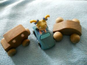 lot of small cars Burger King Rugrats 1998 amp; 2 wooden cars stamped on bottom