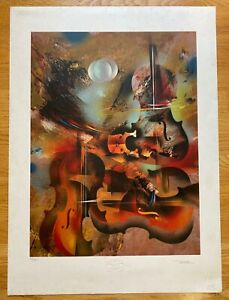 Lot of 5 Leonardo Norman Signed Numbered Violin Lithographs $250.00