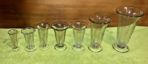 Antique Apothecary Collection 7 Phoenix Cone Shaped Graduated Cylinders* N.Y.C* $99.95