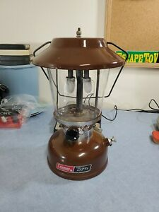 Vintage Coleman Brown Lantern model 275 Tested and Working. 12 75