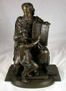 Antique French Bronze Moses JEWISH Statue DUCHOISELLE